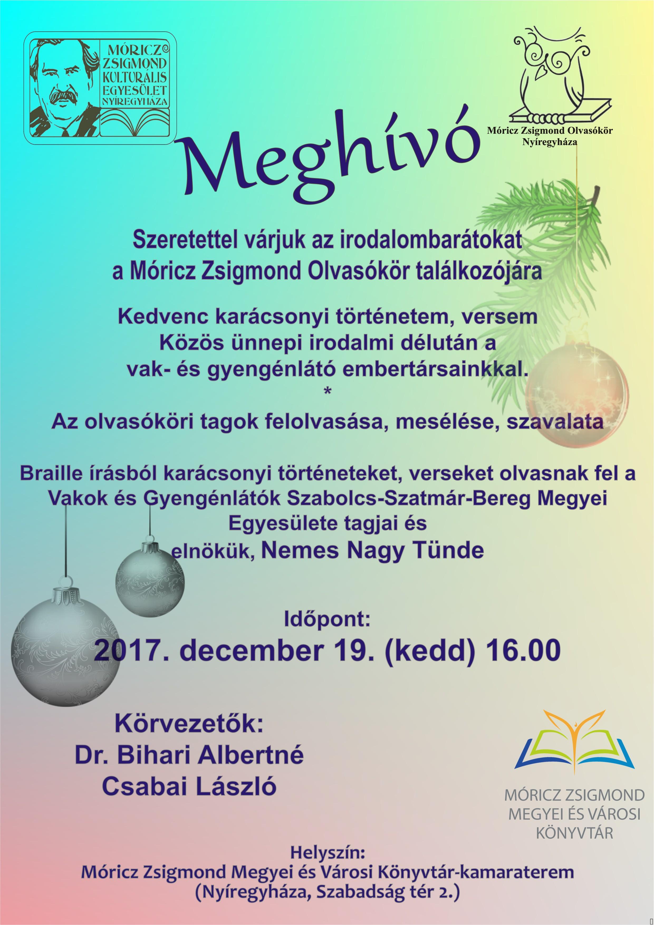 2017 12 19 MZSK Olvasókör